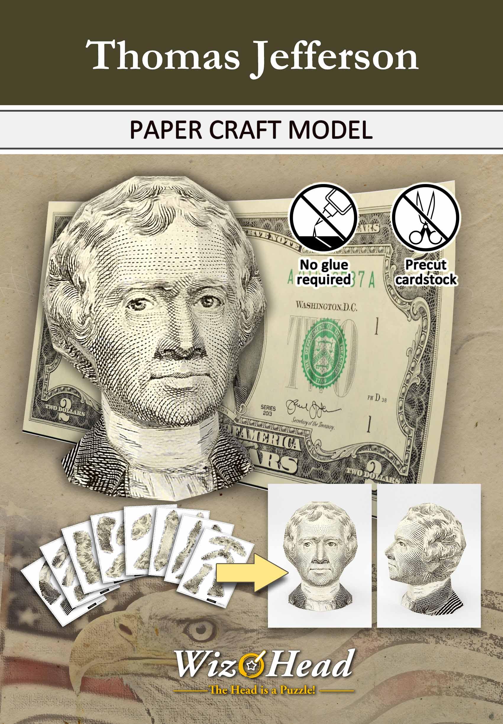 US $2 Bill- Thomas Jefferson (Full Size)