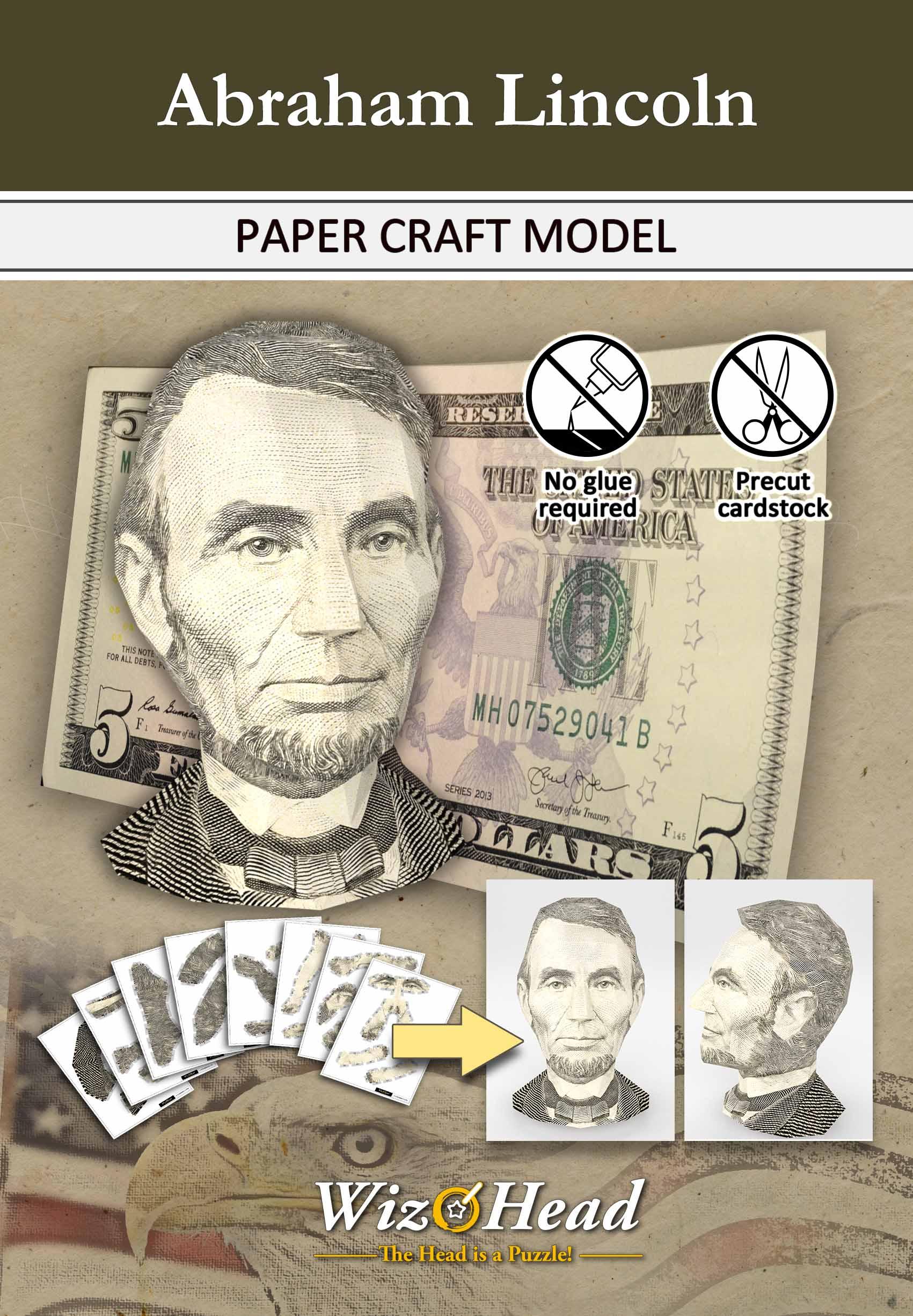 US $5 Bill- Abraham Lincoln (Full Size)