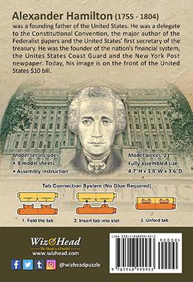 US $10 Bill- Alexander Hamilton (Pocket Size)