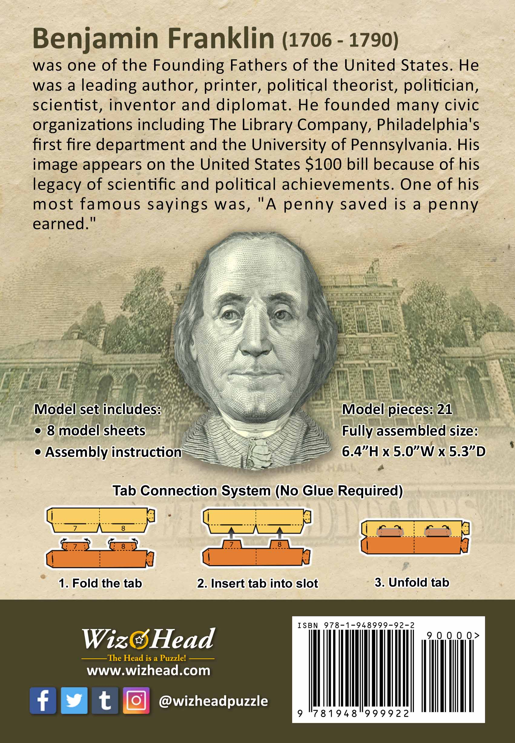 US $100 Bill- Benjamin Franklin (Full Size)