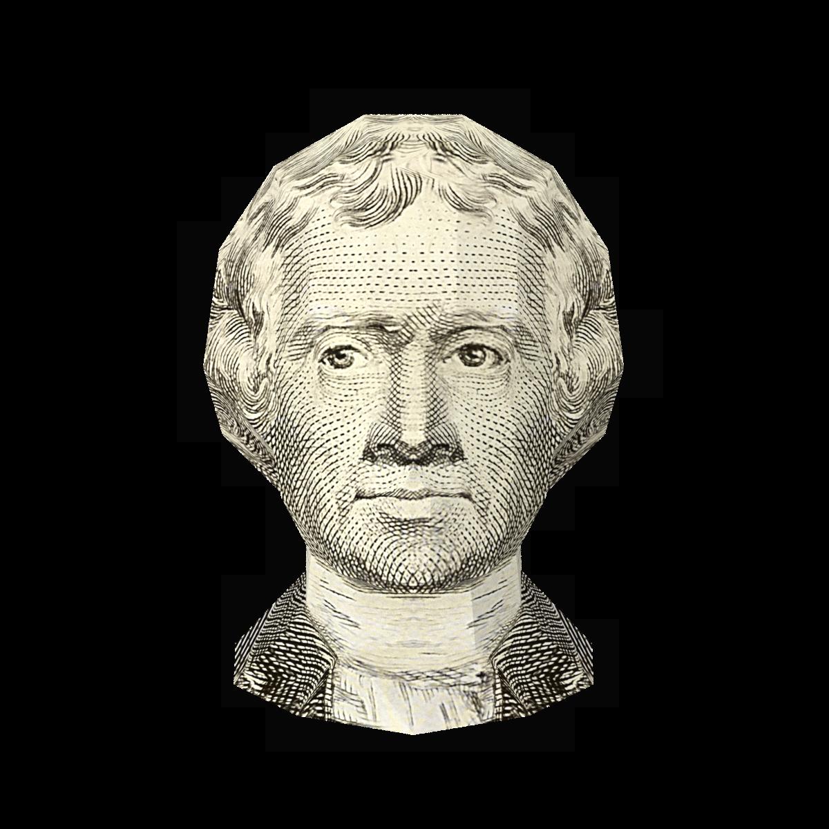US $2 Bill- Thomas Jefferson