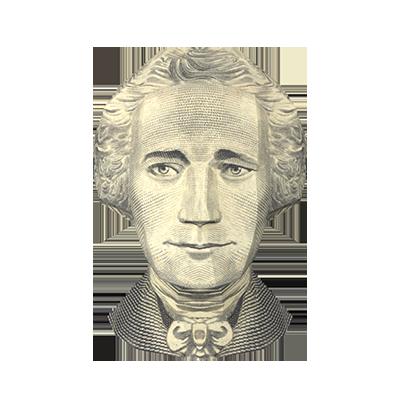 US $10 Bill- Alexander Hamilton